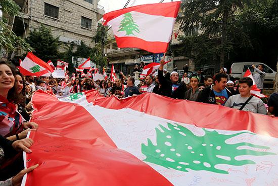 الاحتجاجات-فى-لبنان