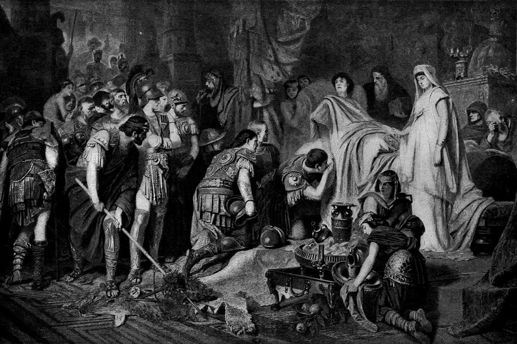 الإسكندر على فراش الموت