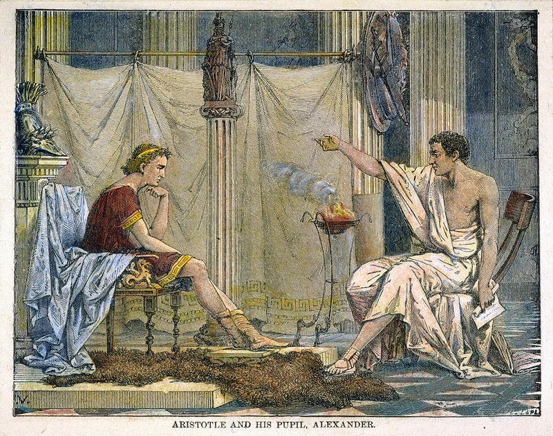 الإسكندر وأرسطو في مجلس العلم