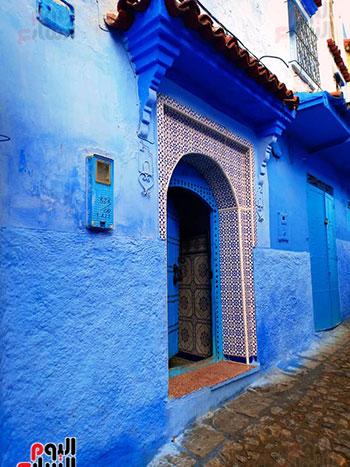 مداخل-المنازل-في-البيوت-الزرقاء