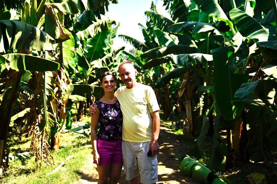 قائدة الفريق الأوكرانى فى زيارة لجزيرة الموز بالأقصر
