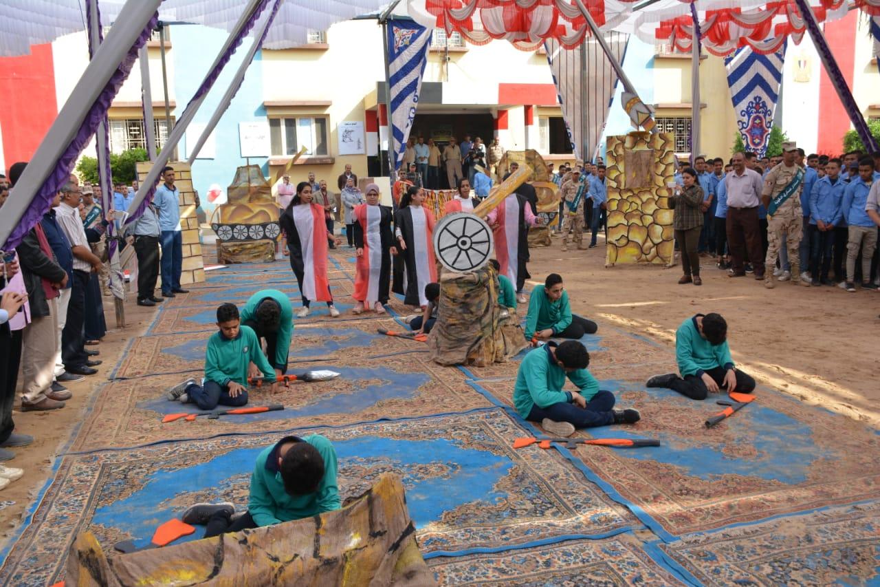 الاحتفال بانتصارات أكتوبر بمدرسة ميت غمر الثانوية المعمارية العسكرية (4)