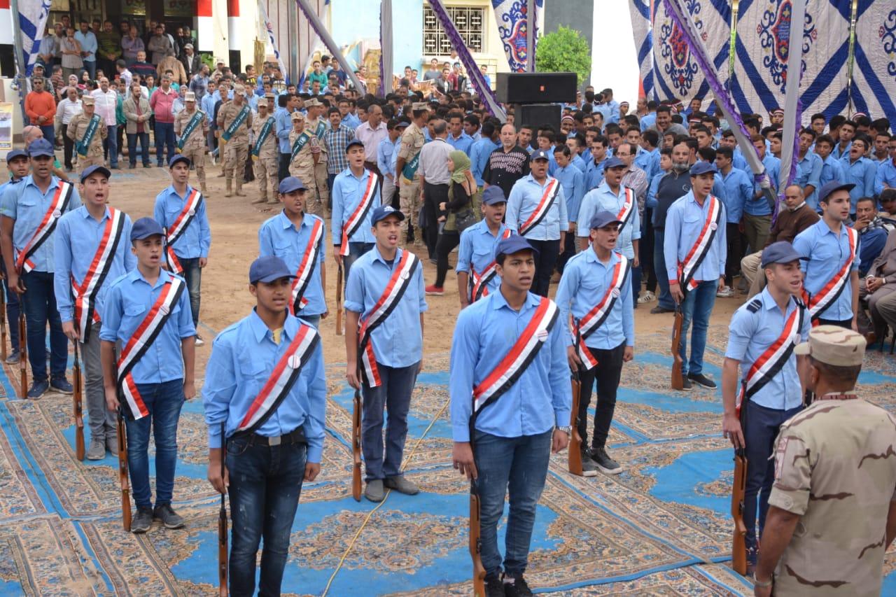 الاحتفال بانتصارات أكتوبر بمدرسة ميت غمر الثانوية المعمارية العسكرية (3)