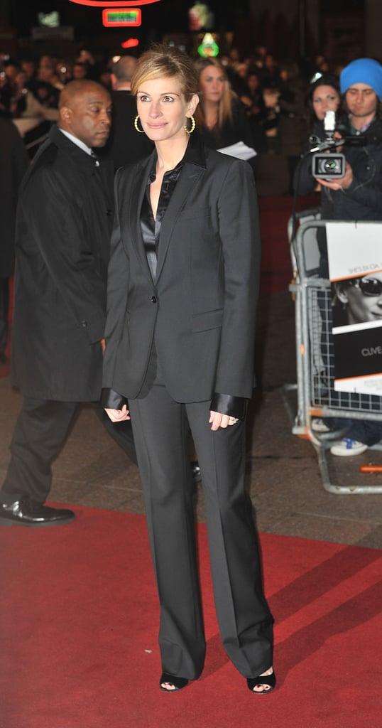 جوليا روبرتس حضورها العرض الأول لـ Duplicity UK فى عام 2009