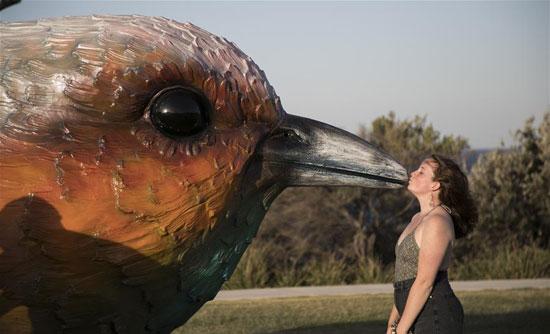 منحوتة-لطائر-ضخم