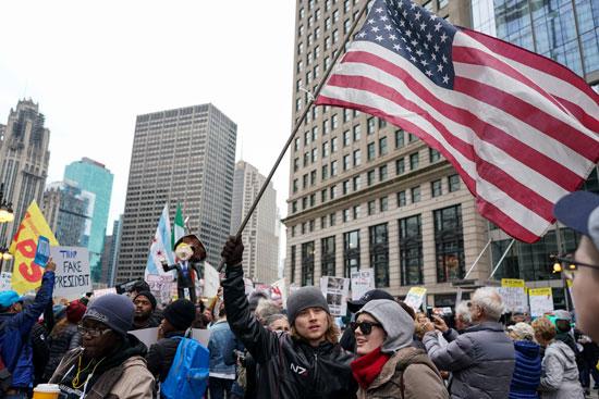 مظاهرات فى شيكاغو