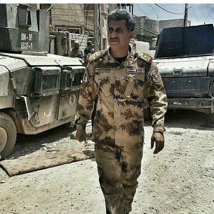 الفريق عبد الوهاب الساعدى فى المعارك ضد داعش