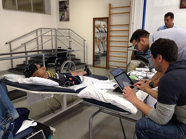 الساق أثناء التجربة على المريض