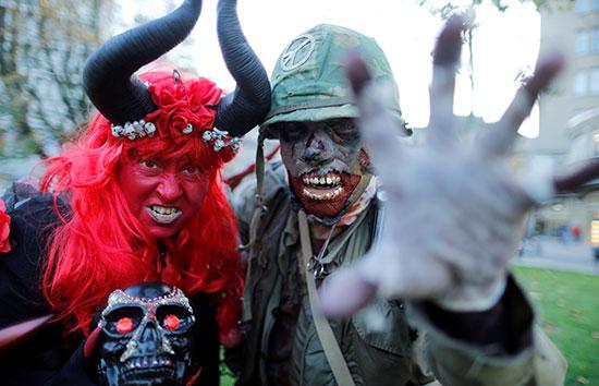 أقنعة الشيطان فى احتفالات الهالووين