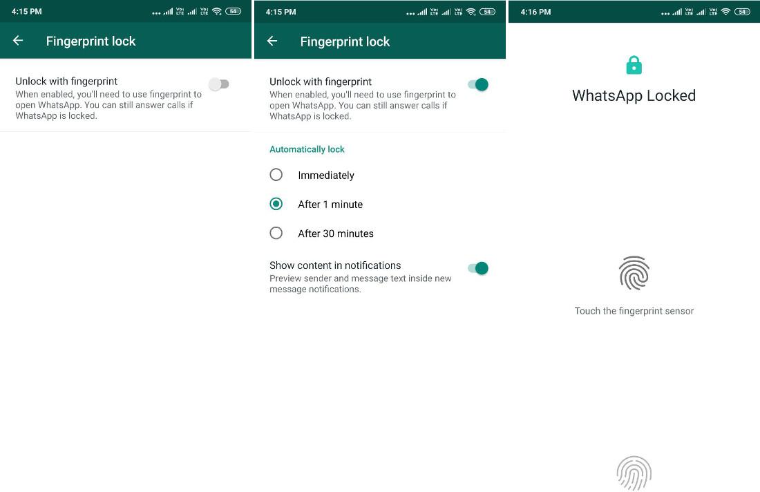 WhatsApp-Android-Fingerprint-Lock