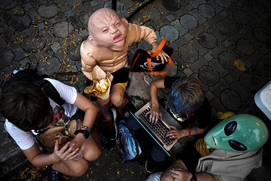 أطفال تايلاند والاحتفال بالهالووين
