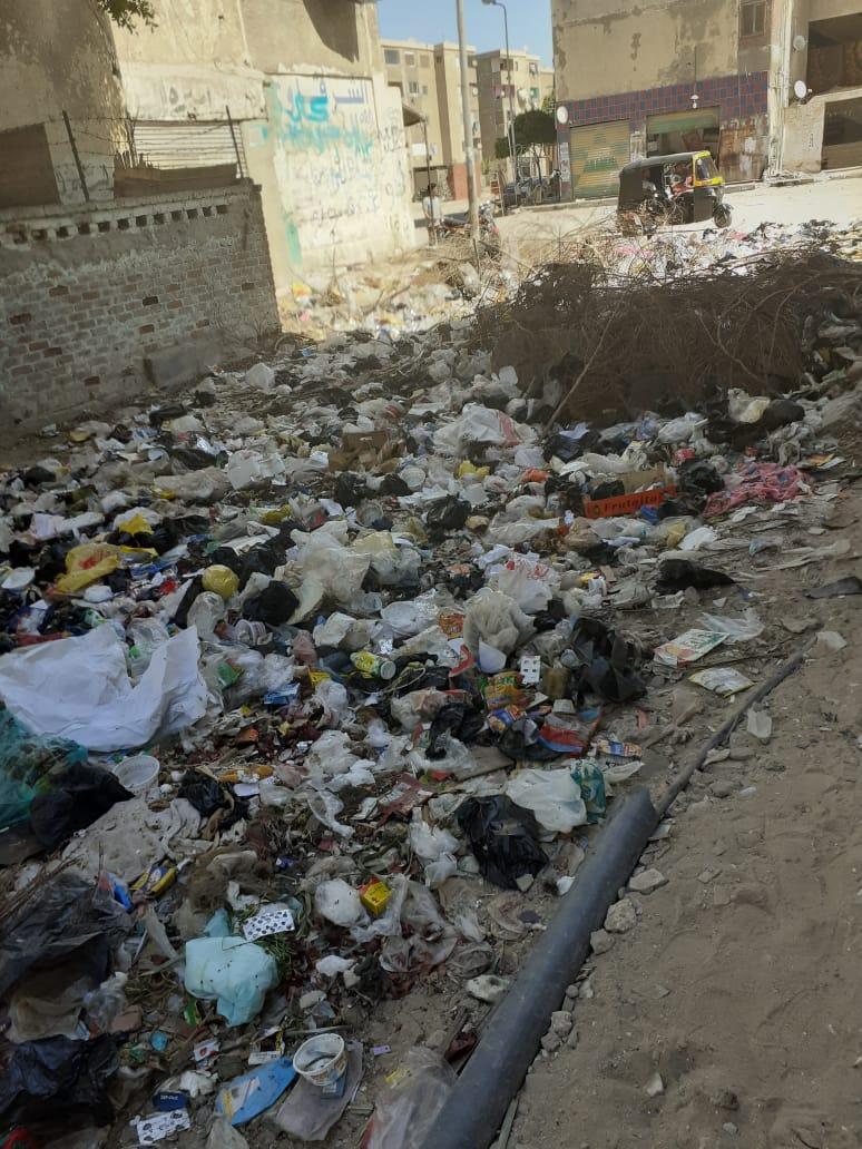 القمامة بشوارع النهضة