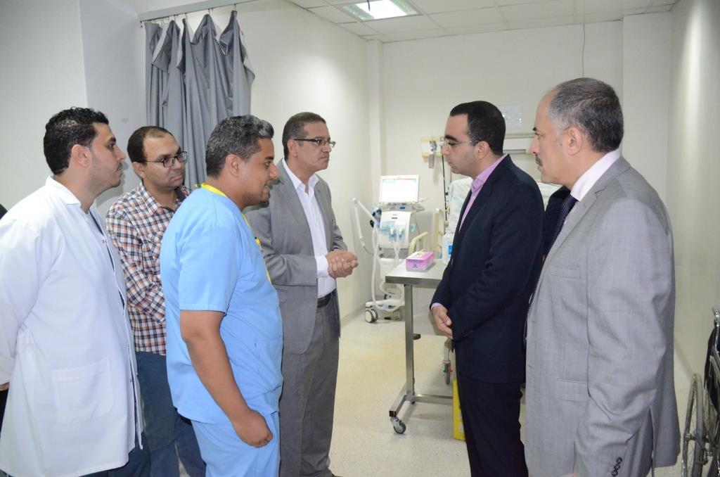 10- تفقد مسستشفى الاورام