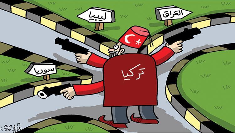 تركيا تهدد السلام بكل من العراق وليبيا و سوريا