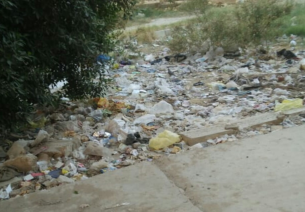 القمامة بشوارع التجمع