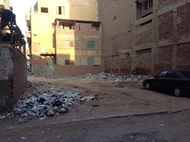 القمامة بشارع عمر بن الخطاب