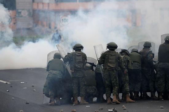 قوات الامن فى الاكوادور