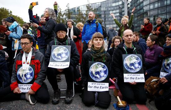 جانب-من-مظاهرة-نشطاء-تغيير-المناخ