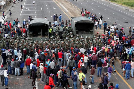 تواصل أعمال العنف فى الإكوادور بسبب الوقود