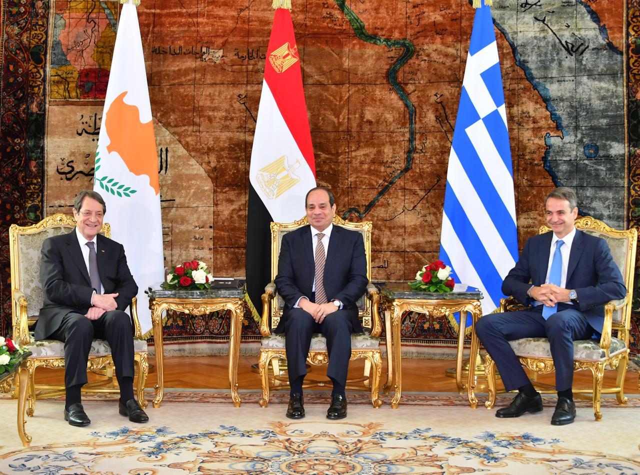 كيرياكوس ميتسوتاكيس رئيس وزراء اليونان و الرئيس السيسي