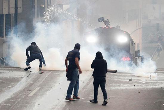 جانب من الاحتجاجات والعنف فى الاكوادور