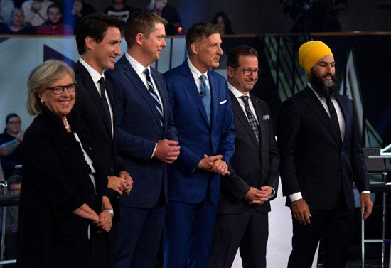 زعماء الأحزاب بكندا