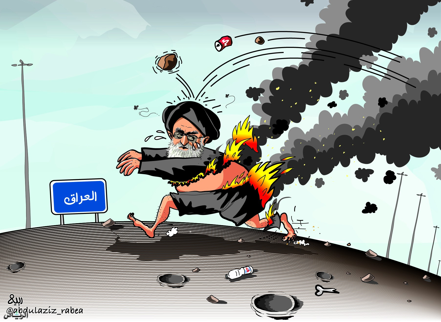 إيران تحول أزماتها الداخلية لحرق العراق