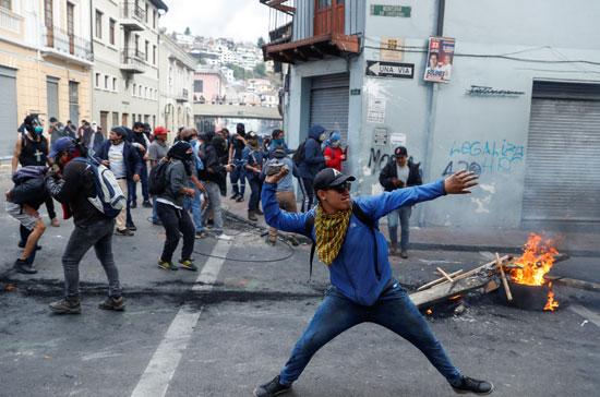 الاشتباكات فى الاكوادور
