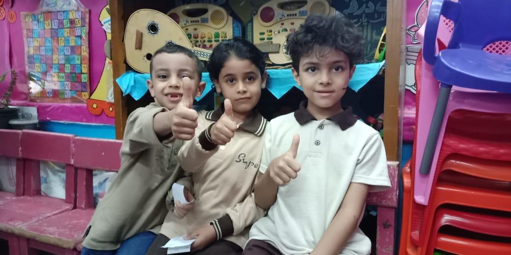 أطفال القليوبية خلال المسح بمبادرة نور حياة