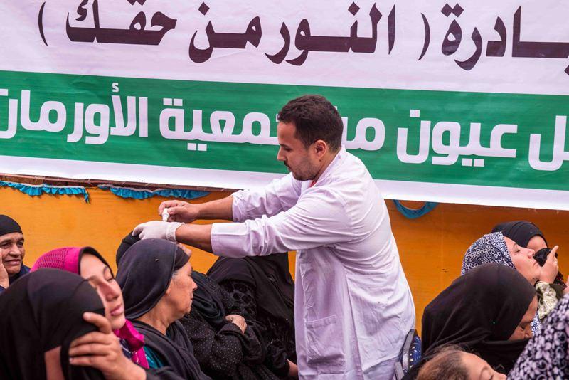 قافلة مبادرة النور من حقك تصل قرية شبرا ملس بالغربية (3)