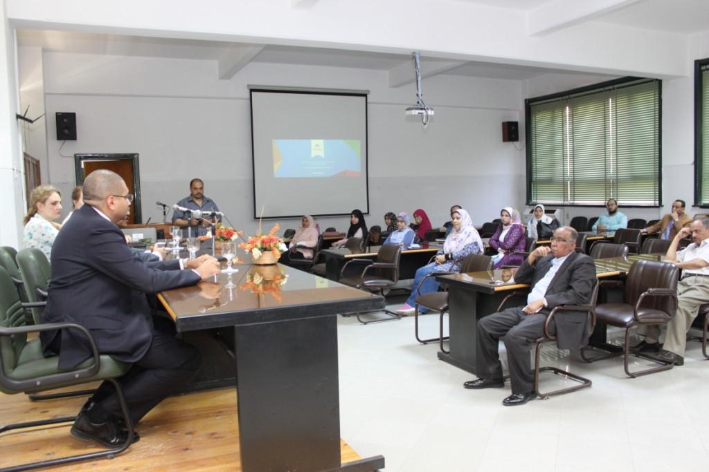 جامعة أسيوط تنظم ورشة عمل متخصصة لبنك المعرفة المصري (4)