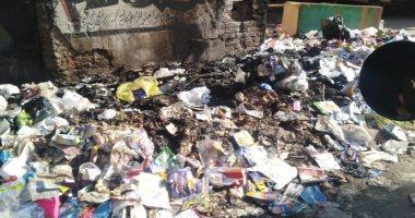 القمامة حول مدرسة بالمطرية