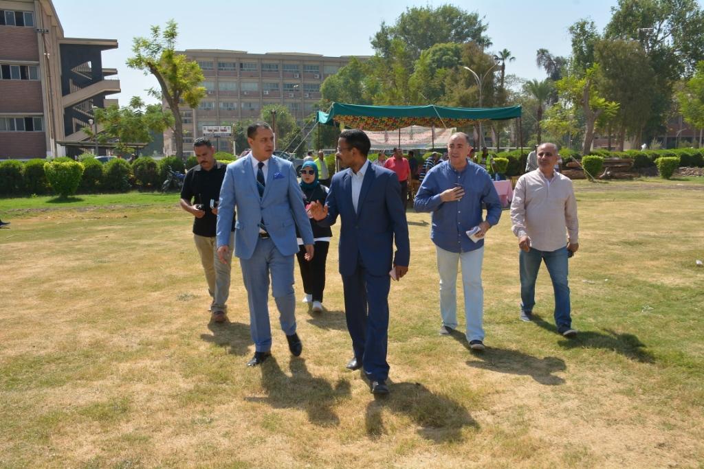 بانوراما حرب أكتوبر فى مخيم كشفى ضمن احتفالات جامعة أسيوط (5)