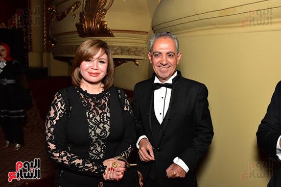 الهام شاهين ورئيس المهرجان الامير اباظة