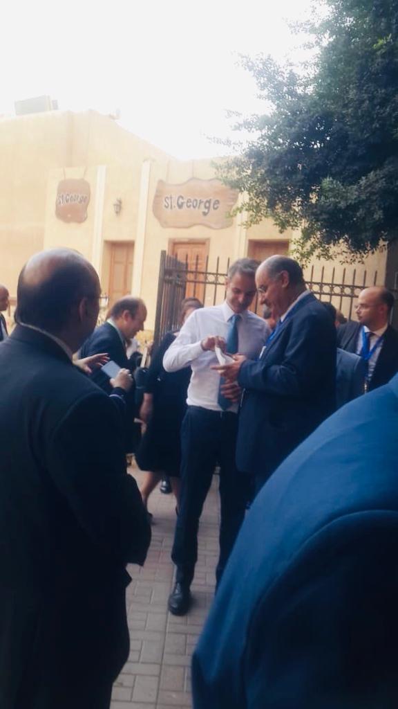 ئيس وزراء اليونان يزور كنيسة مار جرجس  (1)