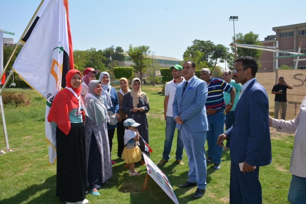 بانوراما حرب أكتوبر فى مخيم كشفى ضمن احتفالات جامعة أسيوط (1)