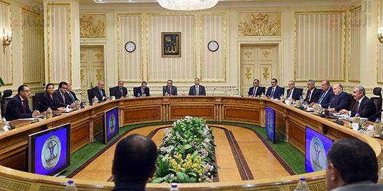 جلسة المباحثات الثنائية بين رئيس الوزراء ونظيره الفلسطينى (6)
