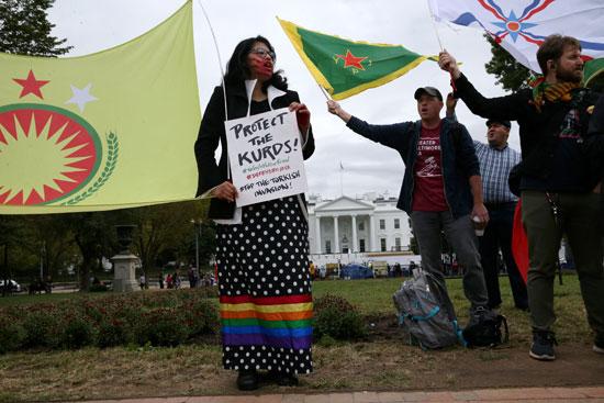 احتجاجات الاكراد فى واشنطن