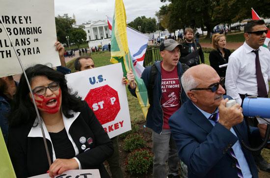احتجاجات كردية ضد انسحاب امريكا من سوريا