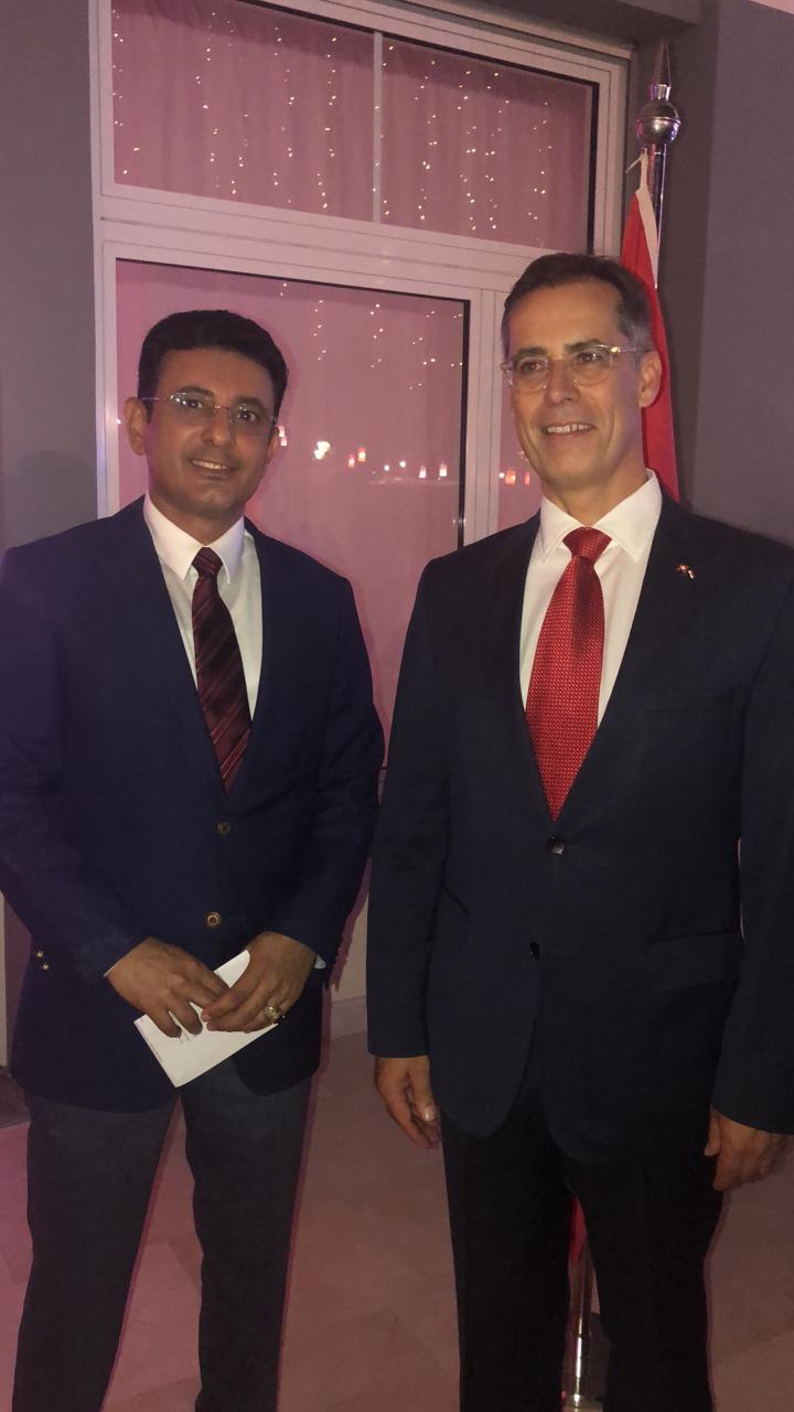 سفير اليمن بالقاهرة محمد مارم يشارك فى الاحتفال