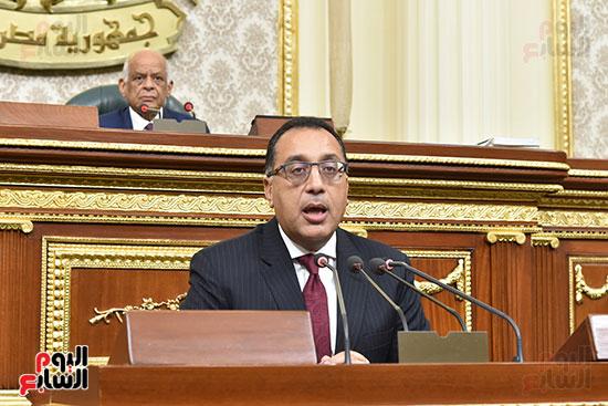 مصطفى مدبولى بالجلسة العامة بمجلس النواب