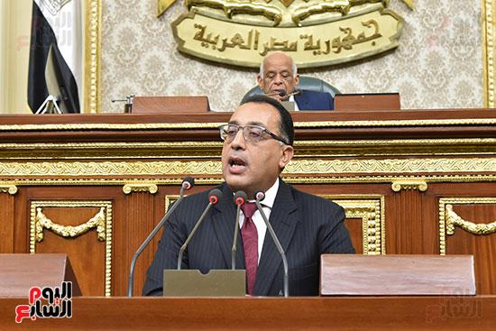 مصطفى مدبولى اثناء القاء بيان الحكومة (2)