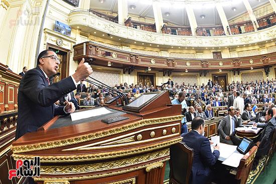 مصطفى مدبولى بالجلسة العامة