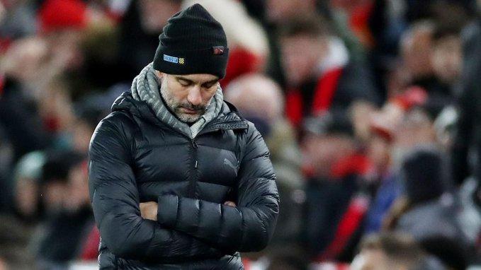 جوارديولا غاضب من تصرفات حكام مباراة ليفربول