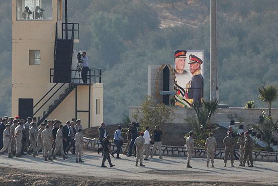 يشارك العاهل الأردني الملك عبد الله ووفد في حفل أقيم في منطقة باقورة في المنطقة الحدودية بين إسرائيل والأردن
