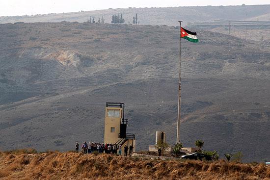 رفع العمل الاردنى فى منطقة باقورة الأردنية