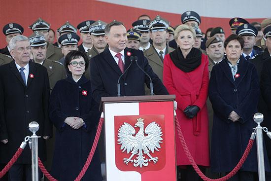 56134-الرئيس-البولندى-أندريه-دودا-خلال-كلمة-له-فى-الاحتفالية