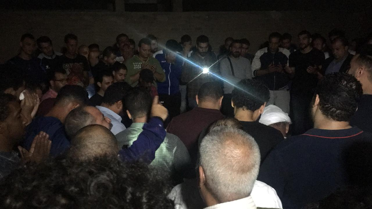 مراسم دفن علاء علي