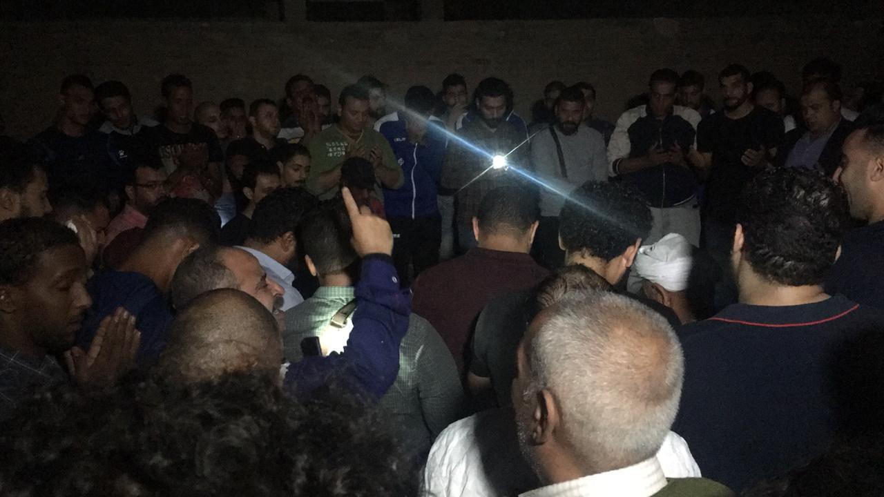 جنازة علاء علي لاعب الزمالك السابق