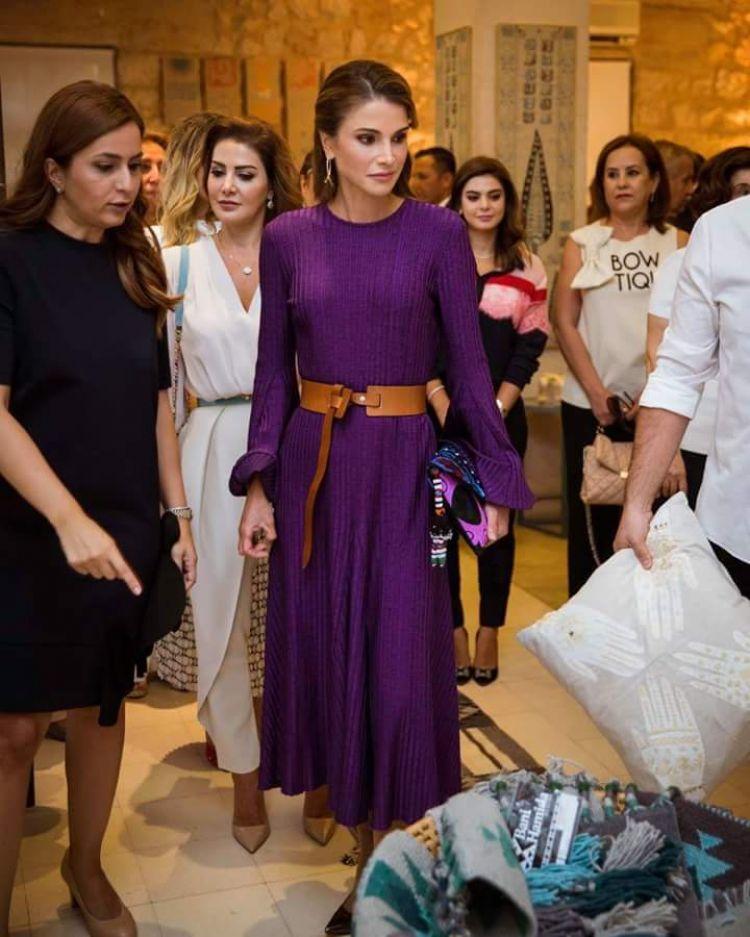 الملكة رانيا في اخر ظهور لها